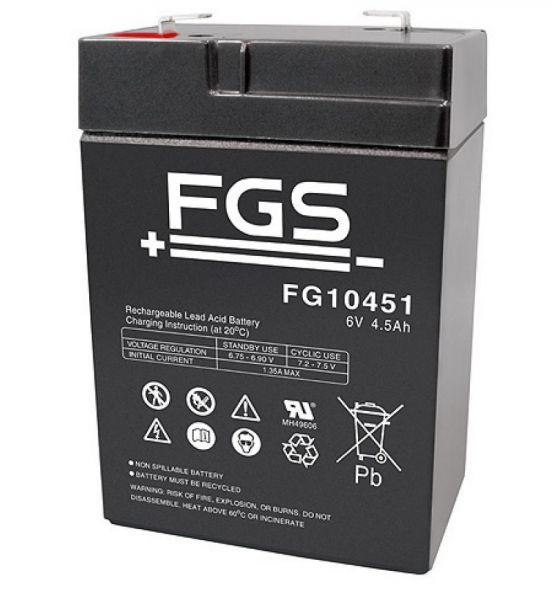 FGS Ultra 4,5-6 Bleigel 6V 4,5 AH 70x47x100