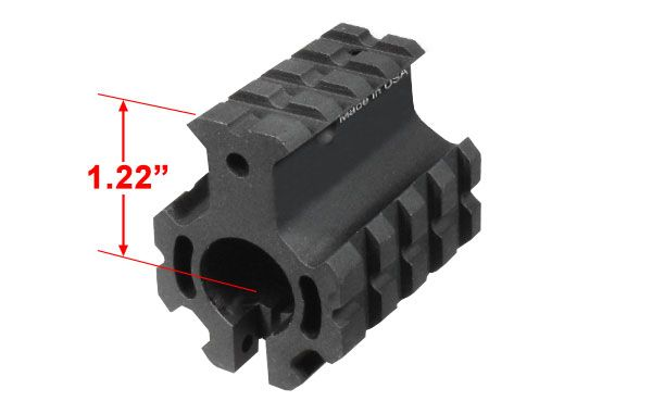 UTG PRO 4-Picatinny Schienen AR-15 Gasblock, hohes Profil