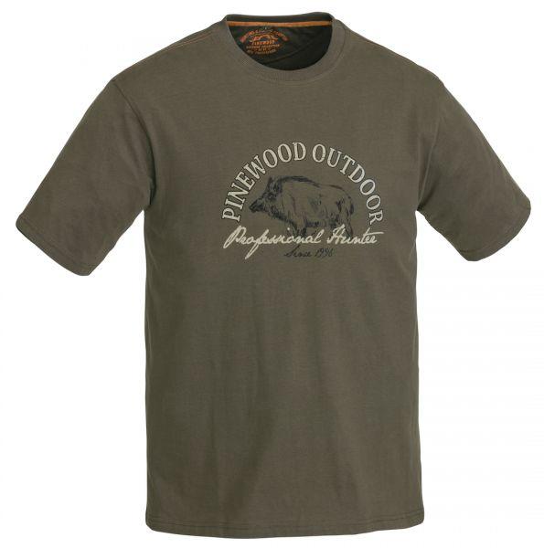 Pinewood Wild Boar T-Shirt (Kaki Grün 121)